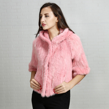 Manufacturing wholesale from China new design winter pink 100% real mink fur coat 2018 for ladies