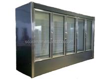 Vertical glass door freezer/Frozen Food Display Showcase