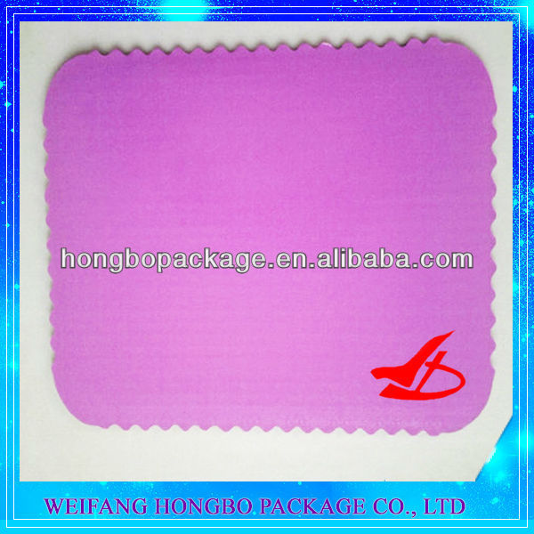 1/4 sheet scalloped cake pads manufacturer/wholesaler