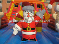 Christmas Santa Clause inflatable slide