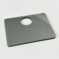 sliver grey cast acrylic sheet CNC laser cutting