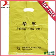 factory China die cut handle orange plastic bags