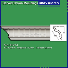 Newly decorative pu lowes trim molding for wall ceiling corner