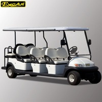8 passengers 48V electric golf cart, electric sightseeing bus