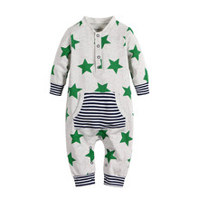 Fashionable baby rompers plain infant organic baby clothes romper wholesale