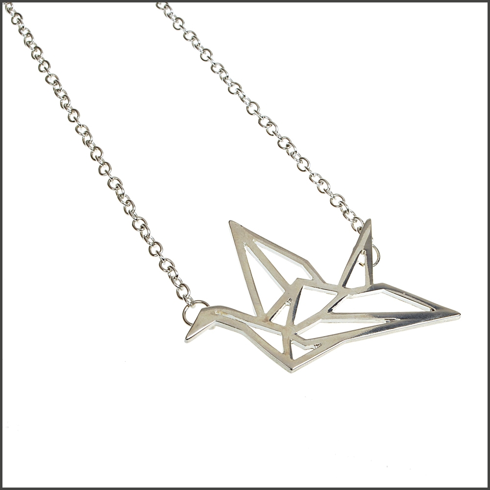 Origami shaped necklace