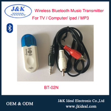 BT-02N USB wireless Bluetooth module audio transmitter for tv projector laptop