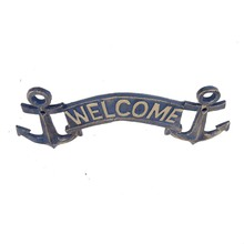 Vintage design metal crafts decorative small hanging outdoor welcome signs
