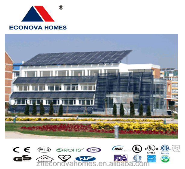 Econova new light steel moveable houses with green solar system on the go