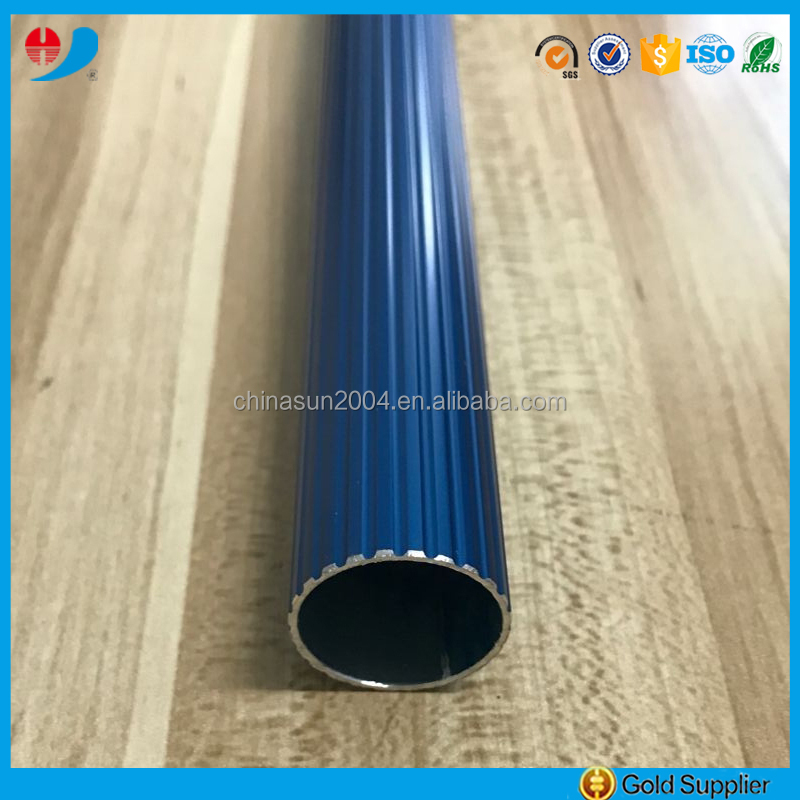 bright blue corrugated aluminum pipe 6063