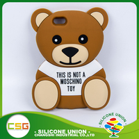 3D toy bear universal silicone phone case