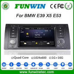 Top Version Android 4.4.4 car dvd 2 din one din radio tv tuner for bmw e39 e53 mirror link tv tuner 2000-2007