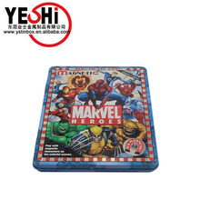 Recyclable Feature customized metal flat jigsaw puzzle cards tin packing box