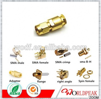 factory price small cnc custom anodized sma connectors