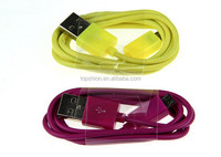 Wholesale high quality micro usb charger cable colorful charging cord for Samsung, alibaba express 2015
