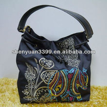 Wholsale Traditional Stylish nylon Handbags & Tote Bags with handcraft flowers