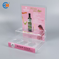 New High Quality 2 layers Acrylic Display Shelf for cups or cosmetic