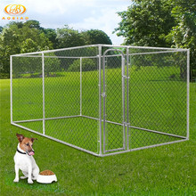 Affordable chain link stronger breed dog kennel cage with door