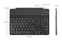 Bluetooth 3.0 Aluminum Ultra Thin Stand Case Keyboard With Magnet English Korean Arabic Russian Layout