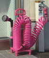 coil hose with holder stand garden tools