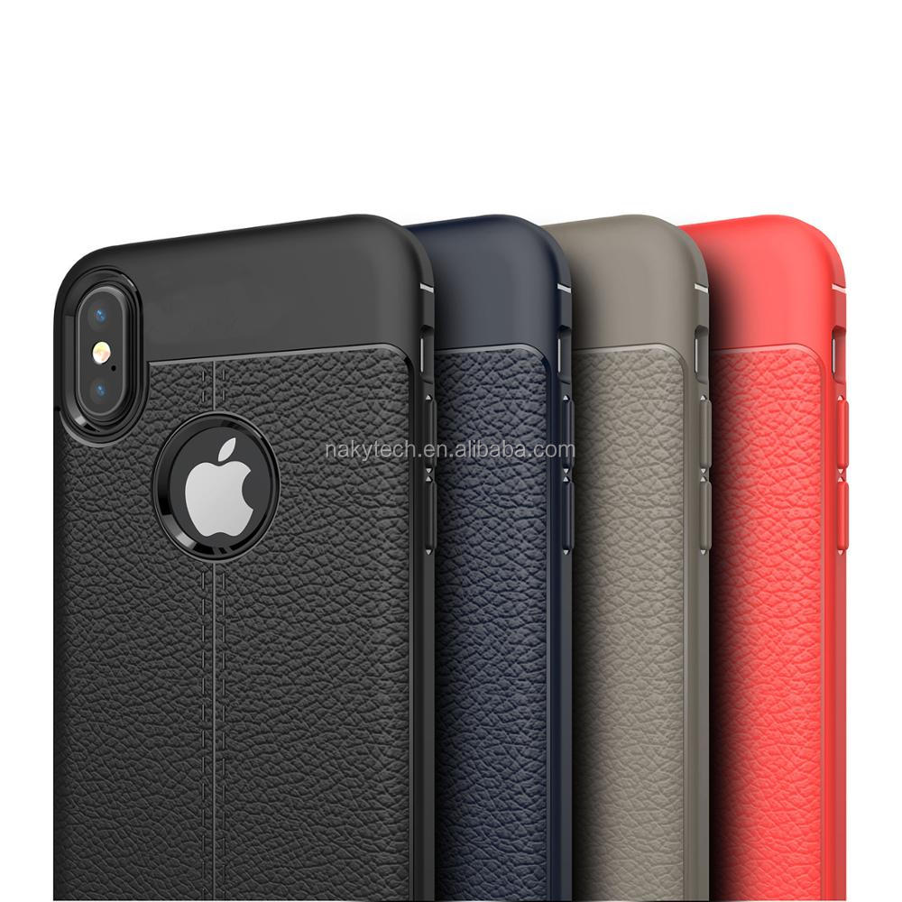 Hot new products soft tpu mobile phone leather case for iphone X