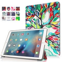9.7 Inch Silicone Stand Case with Smart Hard Cover for Apple iPad Pro 9.7 Inch Love Tree