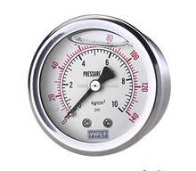 Feilite 1.5 inch liquid filled stainless steel pressure gauge