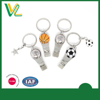 Football & Basketball Whiistle Zinc Alloy Key Chain