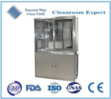 Stainless steel medicine cabinet in hospital