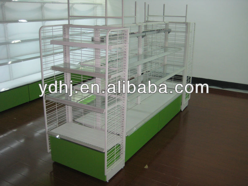 Korea type frame shelf display case for shop system