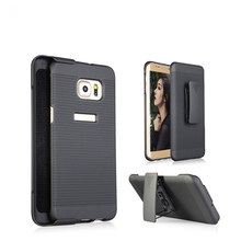 Heavy Duty Hybrid Stripe Celular Shockproof Robot Plastic Swivel Belt Clip Kickstand Case For Samsung Galaxy J2 ,S6 Edge Plus/N