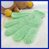 2015 Amazon supplier Bath Brushes Sponge Scrubbers nylon exfoliating bath glove