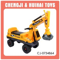 plastic vehical kids ride on toy crane