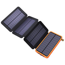 waterproof dual usb portable solar charger with 8w solar panel 8000mah waterproof power bank