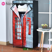 NEWAY Household fair price furniture non-woven clothes canvas wardrobe