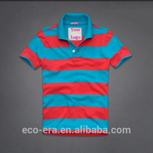 Latest Fashion Custom Bulk Polo Shirts Cheap Striped Polo