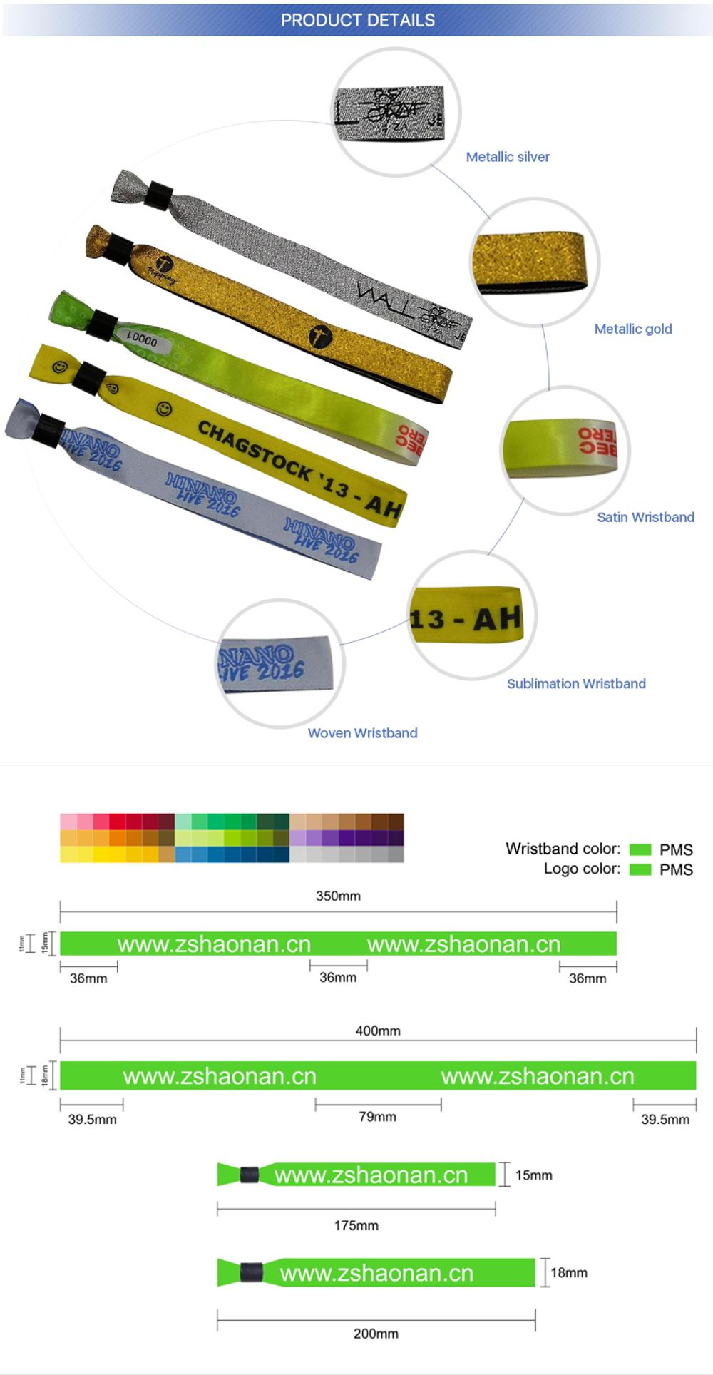 OEM Free Sample Customize Logo Sport Festival 짠 Bracelet Fabric 팔찌