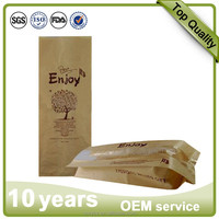 Customzied colorful printing side gusset kraft paper bag for food packing