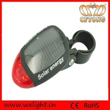 2 Red Led Lamp Caution Light IP65 Solar Led Tail Light Bicycle For Cycling