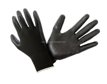 13Gauge polyester Foam Nitrile palm dipped glove Ansell