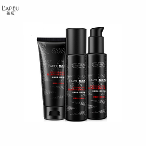 LAPEU Men's Skin Care Products Face Care Cleanser Toner Emulsion Revitalizing Professional Skin Care Set