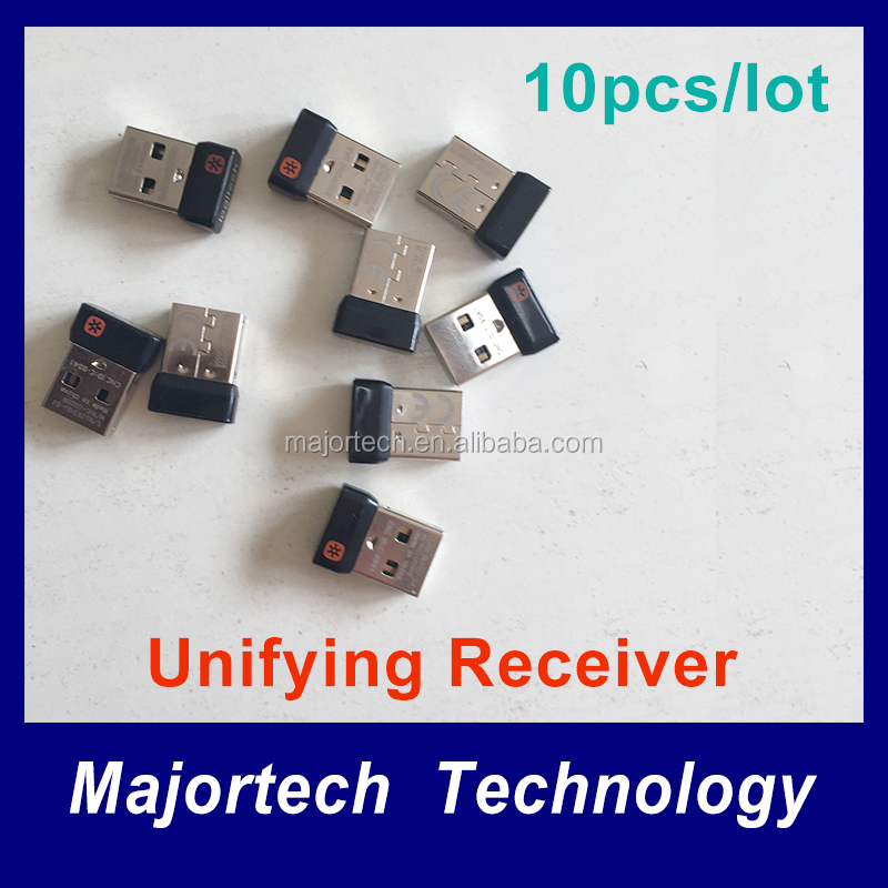 10pcs/lot New Genuine Tiny Unifying Receiver logitech dongle for mouse and keyboard to Six Devices