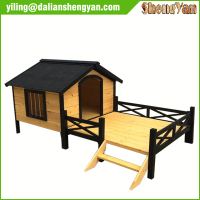 Large Designer Cheap Unique Outdoor Dog Kennel with Veranda