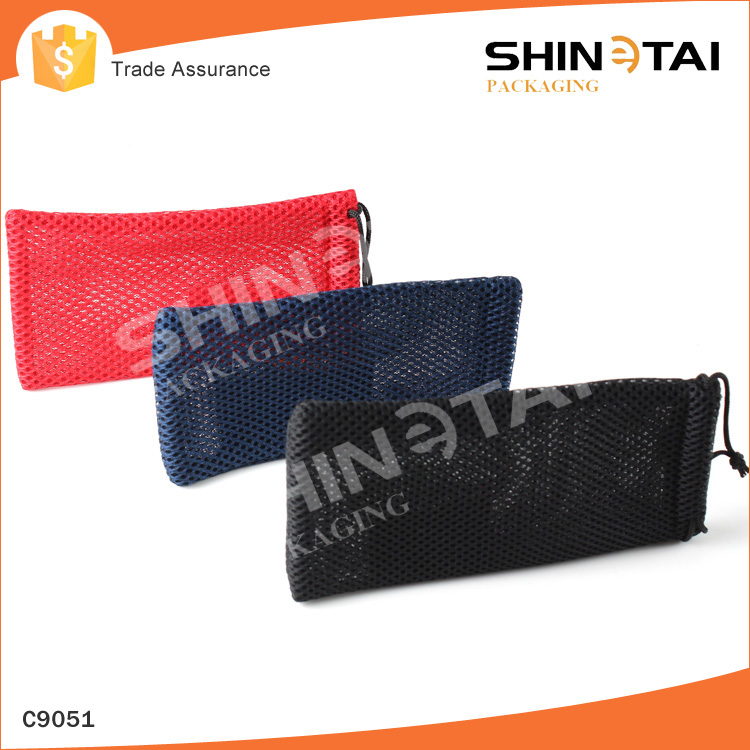 Draw string mesh pouch bag for sunglasses