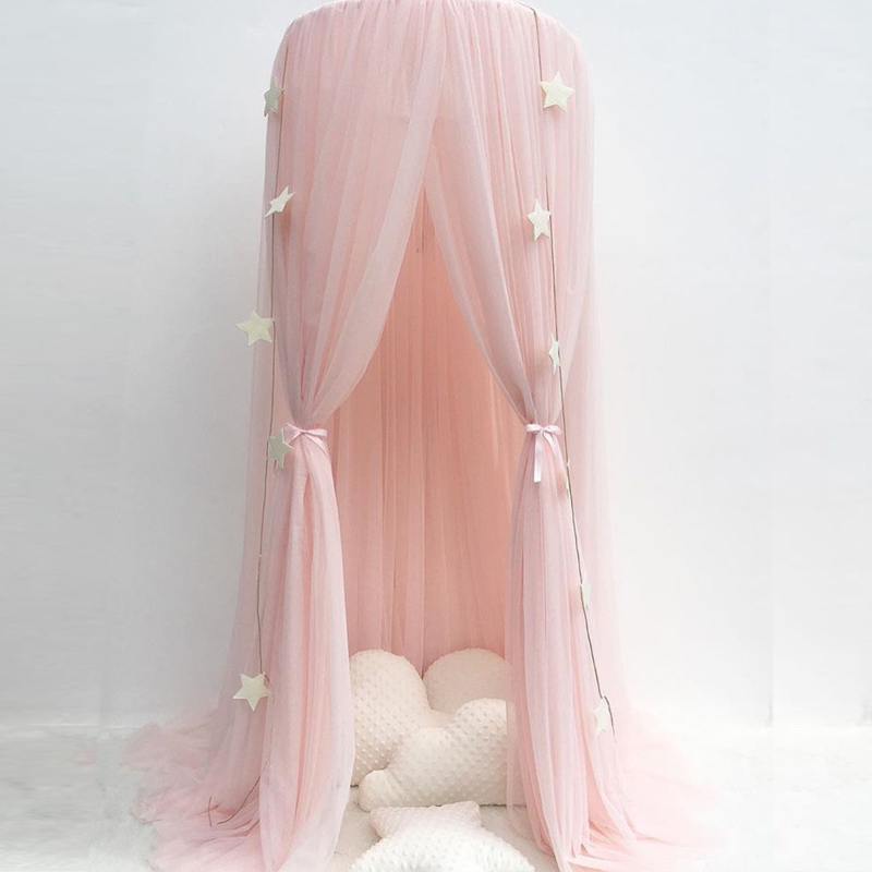 Round Mosquito Net Bed Canopy Curtains