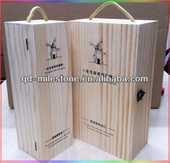 Wood Boxes with Handle