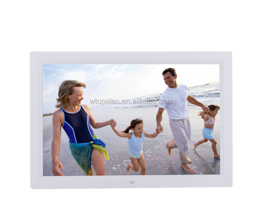 Slide show, MP3, MP4, MP5, calendar, clock Multimedia HD 12 inch digital photo album for family use