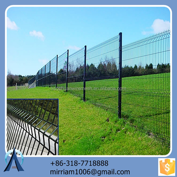 Made in China hot sale Hot dip steel railing / 3d securifor steel railing / welded steel railing