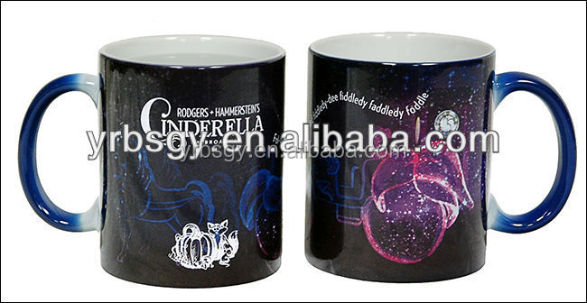 FDA Approved Black Color Changing Magic Carriage Mug