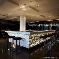 Triumph artificial stone kitchen countertop white artificial counter bar table top